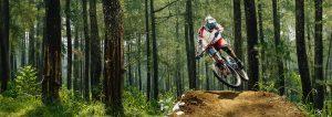 Pump Track Cyclist Mountain Bike